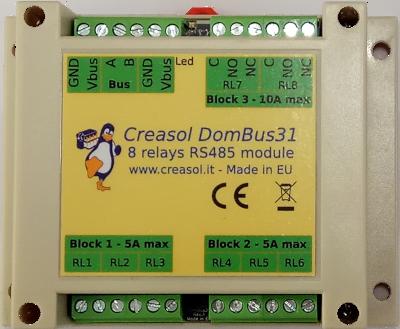 Creasol DomBus31 8 relays output module
