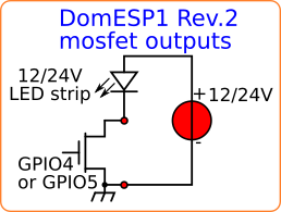 creDomESP1 mosfet outputs